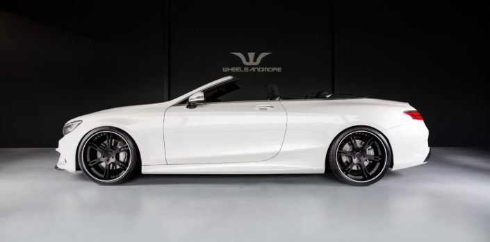 new s63 convertible with 22 inch wheels in black with white outline