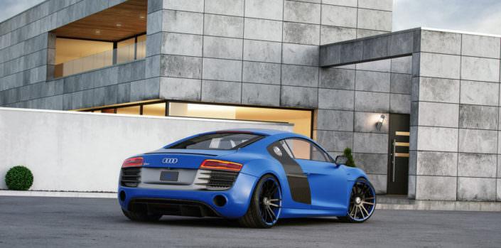 Audi R8 Plus V10 exhaust system
