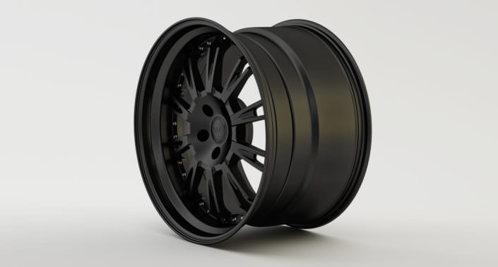 Full matte black Du-L wheel