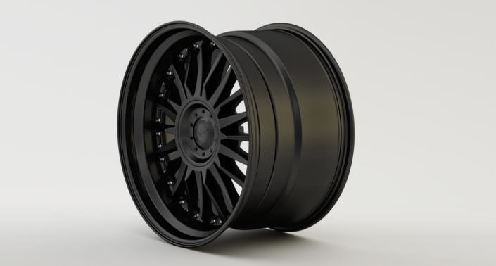 Full matte black C-Sport wheel