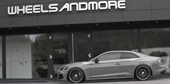 extreme tuning audi rs5 with 3-part wheels