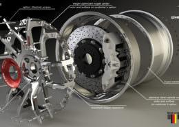 tuning forged wheel gtc 4 lusso fork ferrari