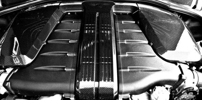 carbon cover ending w12 engine bentley continental 24