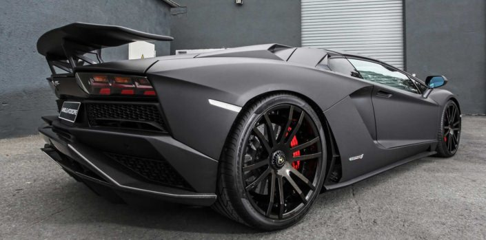 close up rear view aventador s wheelsandmore