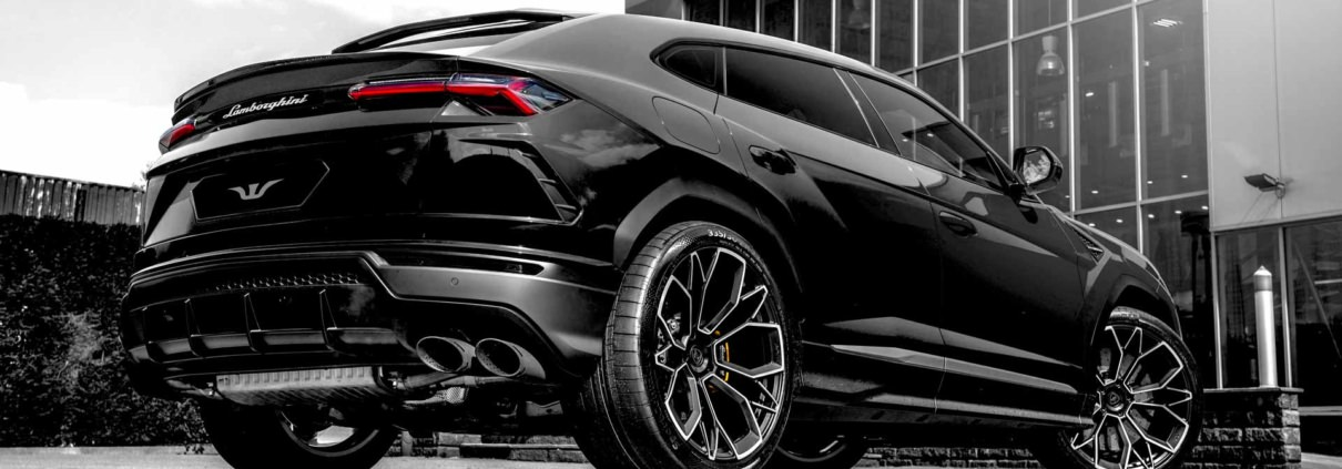 black urus side view rear wheelsandmore