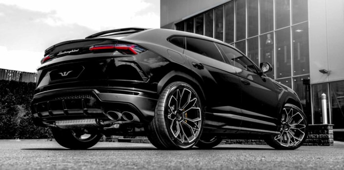 black urus side view rear wheelsandmore