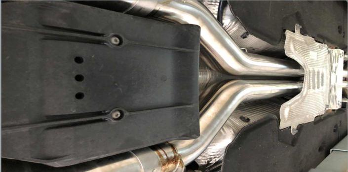 exhaust tubes bentley
