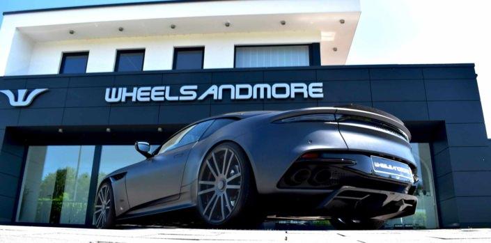 rear side view aston martin dbs superleggera by wheelsandmore