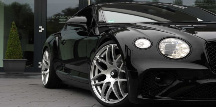 close up side view bentley tuning conversion