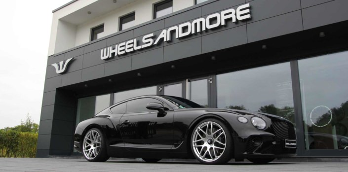 black bentley in front of wheelsandmore