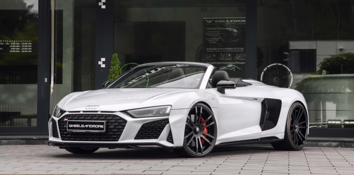 Front side view audi r8 v10 tuning
