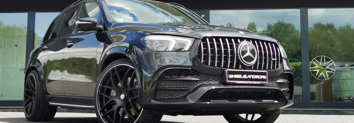 black gle53 with 24 inch wheels from wheelsandmore