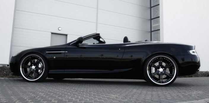 Aston db9 tuning with wheels
