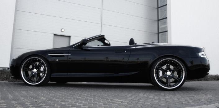 Aston db9 tuning with wheels
