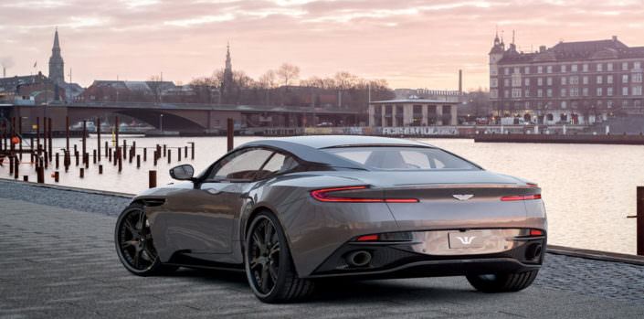 wheels and exhaust for aston martin db11