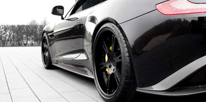 black wheels aston martin volante s