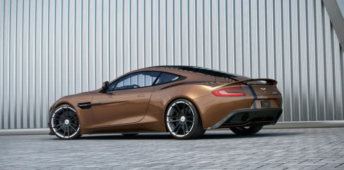 12,0x21 rear FIWE wheel on aston martin vanquish