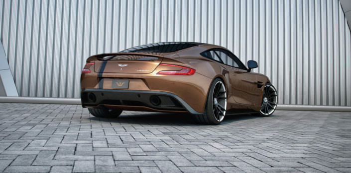 tuning with exhaust +40hp and 90nm for aston martin vanquish