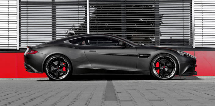 individual upgrade of wheels and power for aston martin vanquish