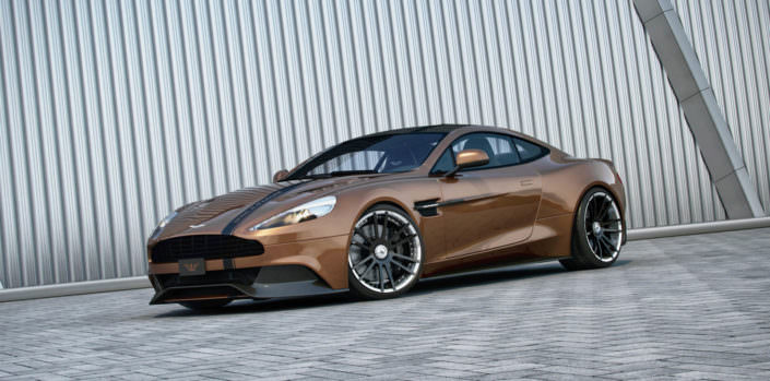 german handcrafted fiwe wheels with concave conture for aston martin vanqish