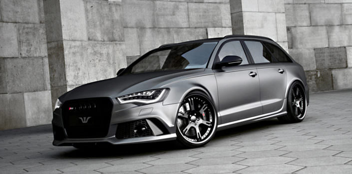 audi rs6 with 21 inch 6sporz wheels in matte black