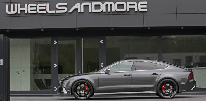 exhaust and power upgrade due turbocharger up to 820hp for Audi RS7