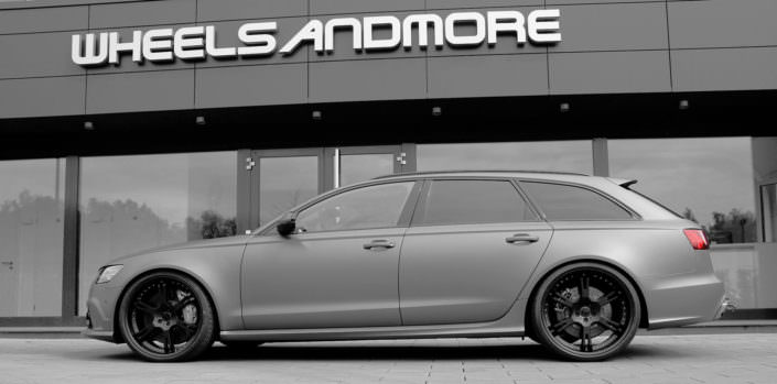Audi RS6 exhaust and suspension lowering