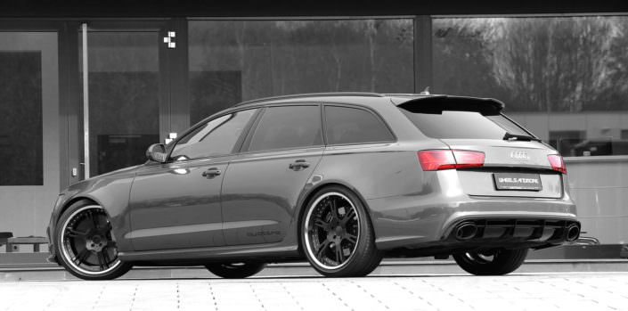 tuning 4G rs6 audi up to 820 hp with wheels 21 inches