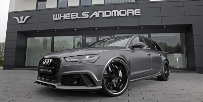 audi rs6 tuning with 820hp and 22 inch wheels