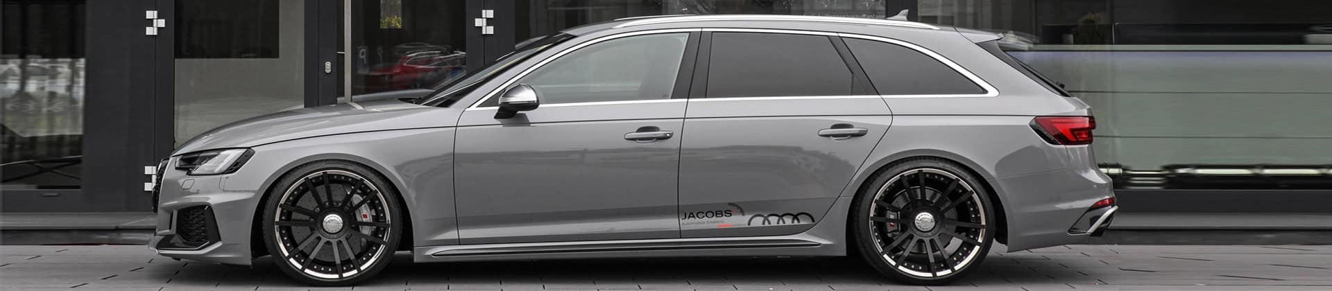 side view rs4 b9 with 20 icnh wheels