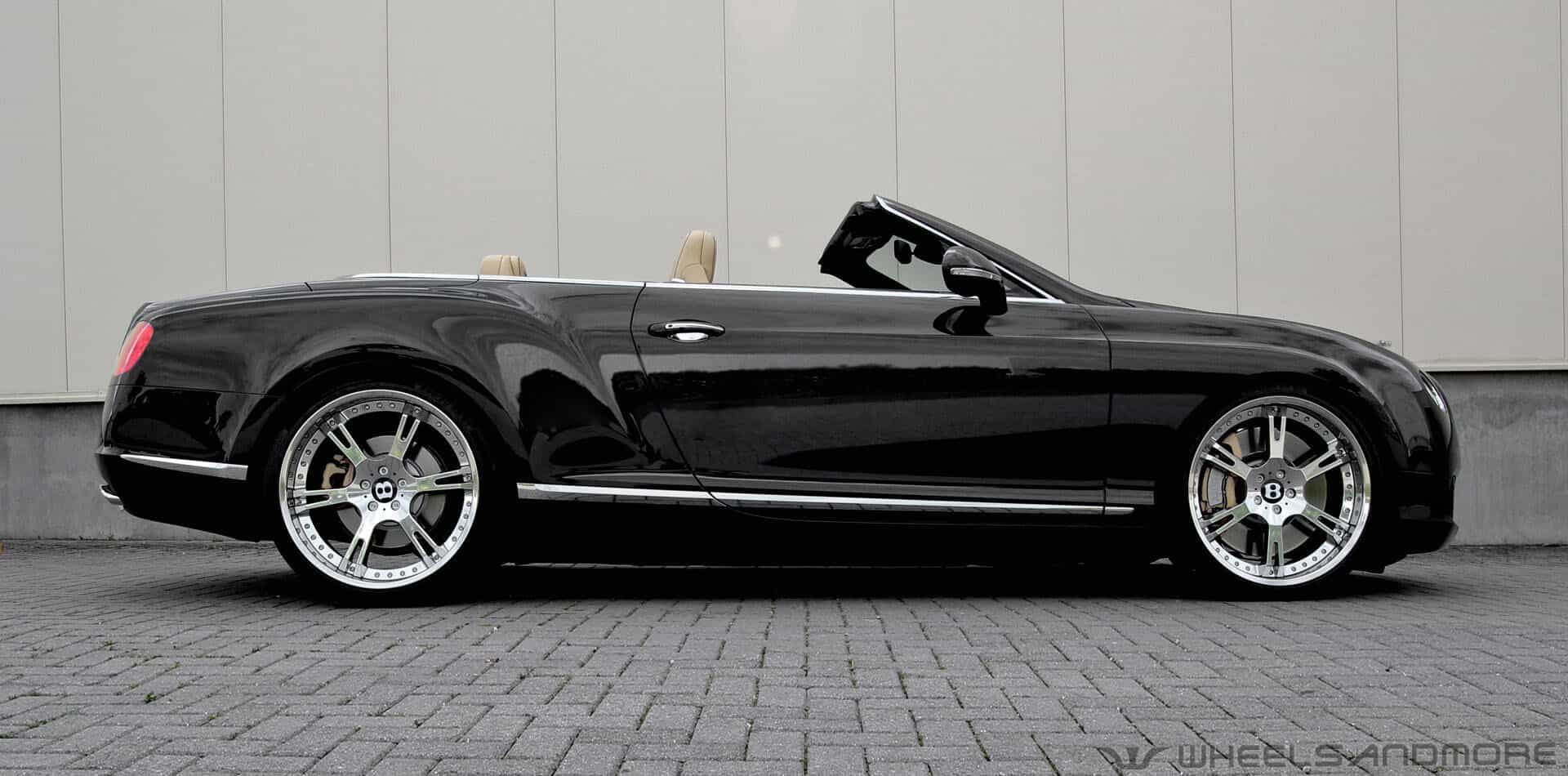Bentley Continental tuning with wheels and exhaust