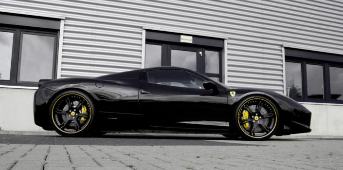 458 ferrari with 22 inch 6sporz² wheels and lowering springs