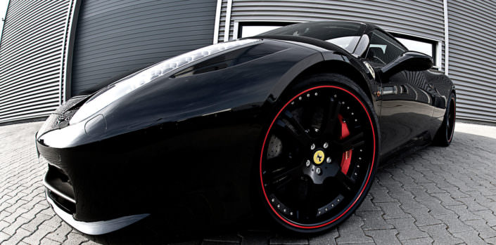 the 458 ferrari tuning concept by wheelsandmore black ferrari