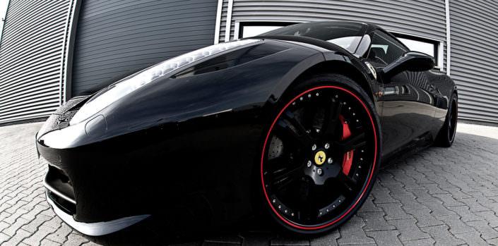 the 458 ferrari tuning concept by wheelsandmore black ferrari