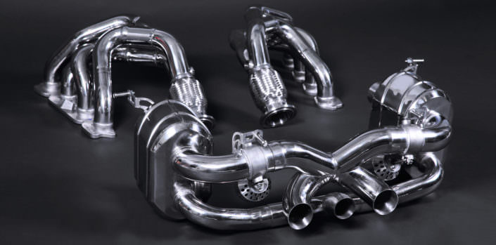 handcrafted stainless steel 1.4828 exhaust ferrari 458 tuning
