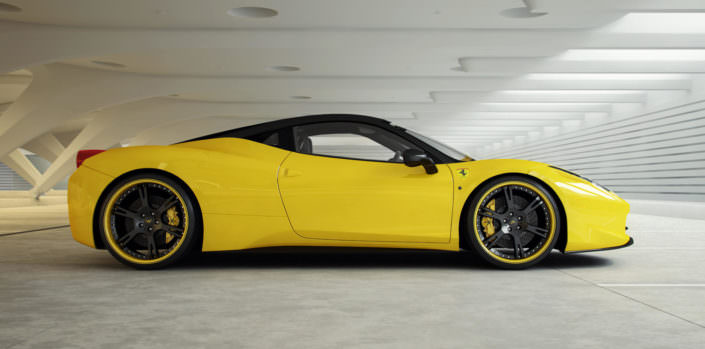 ultralight tuning wheels 6sporz for ferrari 458 in yellow