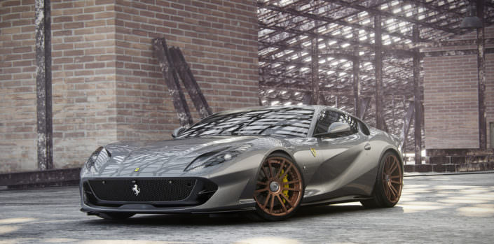 21 inch fiwe wheels on anthracite 812 superfast ferrari