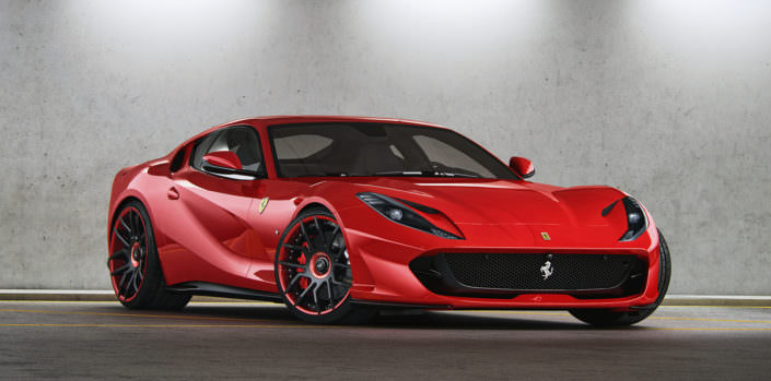 red 812 superfast tuning with forged wheels and springs