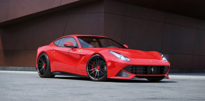 tuning of ferrari f12 with wheels