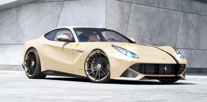 ferrari wheels concave 22 inches rear