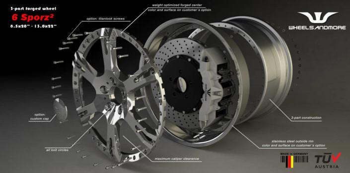 6sporz forged wheel 21 and 22 inch ferrari f12