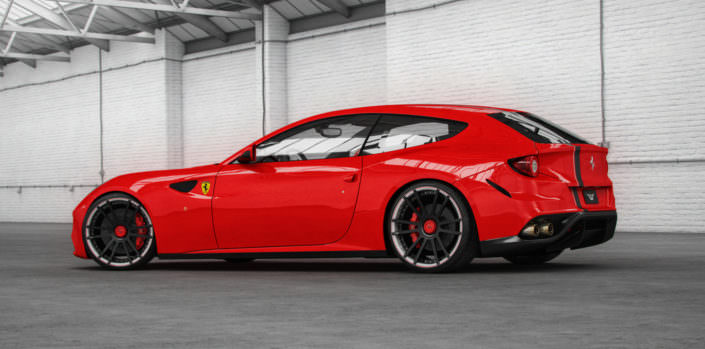 bicolor fiwe wheels on ferrari ff
