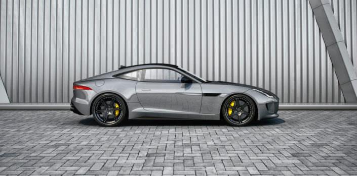 21 inch 6sporz wheels matte black on grey jaguar f-tpe