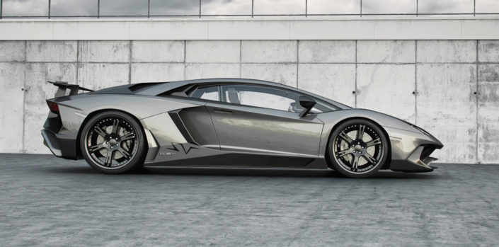 aventador lp 750-4sv tuning with staggered 20 and 21 inch wheels