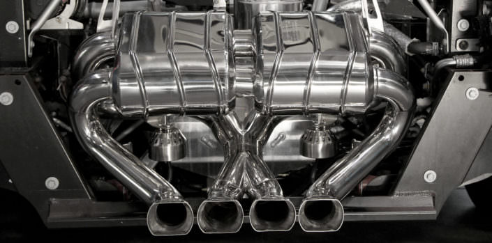 aventador flap exhaust stainless steel 1.4828