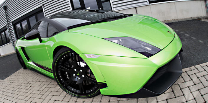lamborghini green beret superleggera with 620hp tuning