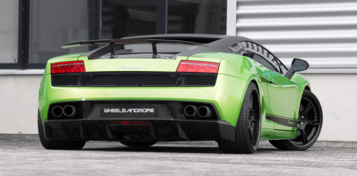 rear view superleggera with forged wheels and exhaust