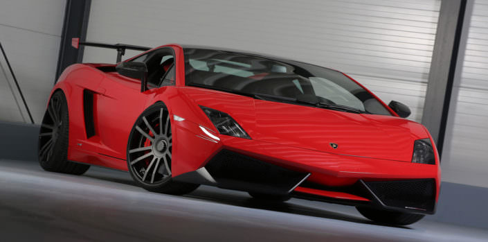 gallardo superftrofeo with bicolor fiwe wheels