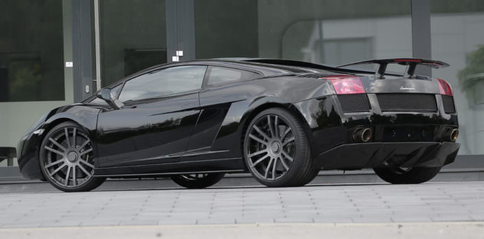tuning for lamborghini superleggera with wheels and exhaust