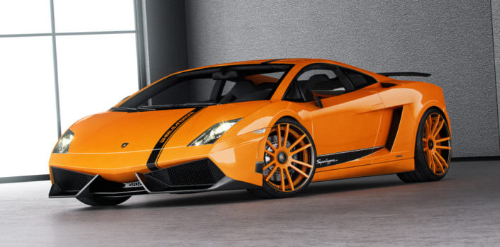 front view gallardo superleggera with fiwe wheel